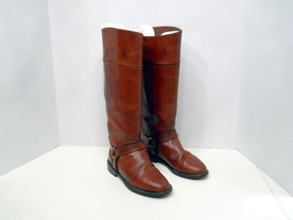 COLE HAAN Equestrian Boots // Russet Brown Leather (5 B US)