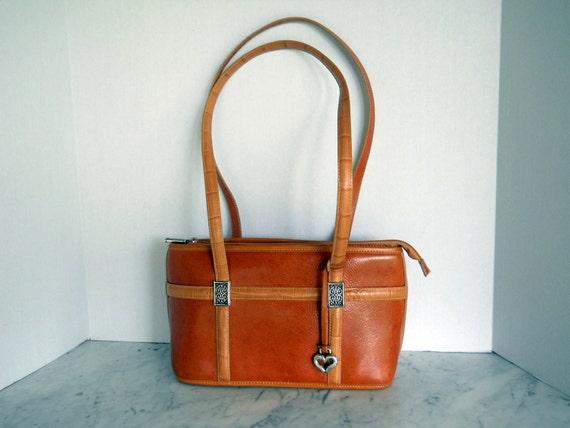 Brighton Shoulder Bag Tote // Russet Leather East West Bag