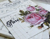 Shabby chic paris rose gift tags FREE Shipping