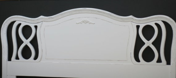 Shabby chic headboard vintage french provincial full size Custom paint