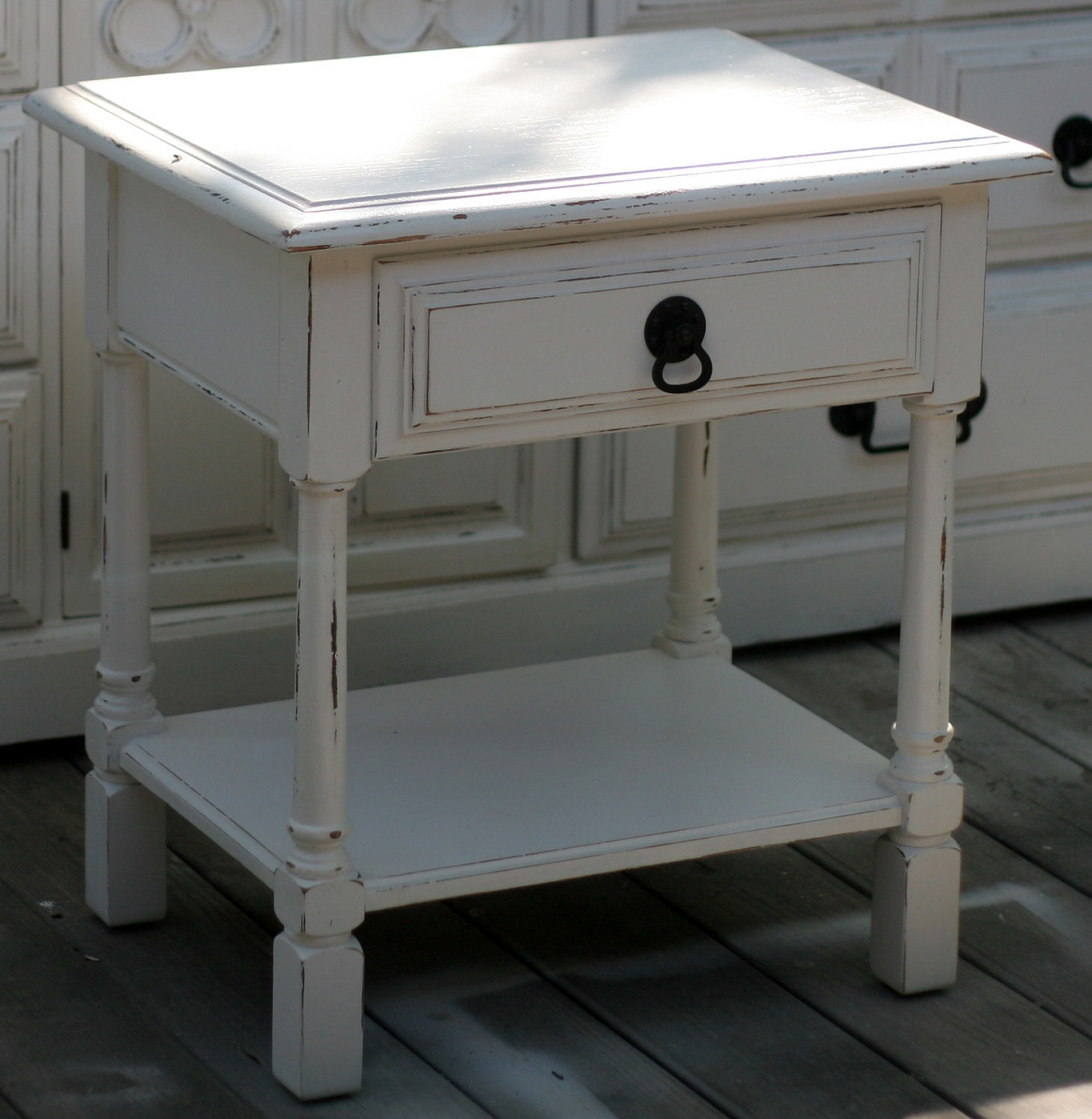 28 Best White Shabby Chic Nightstand Items Similar To