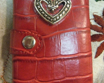 ANTIQUE KEYS 6 in Lovely Red Wallet Key Case Authentic Old Keys Silver Heart and Snaps shut Sale coupon code 10moj2 Vestiesteam