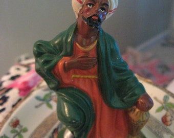 """Paper Mache Vintage Nativity King from Orient Manger figure 4.5"""" Tall Japan SALE Coupon Code 10moj"""