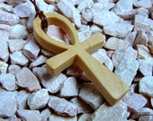 Ankh Cross Pendant / Poplar Wood