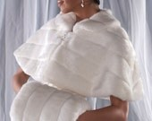 PLUS SIZE Faux Fur Capelet and Super Size Hand Muff set Winter Wedding Cape Available in white, ivory, cream or black
