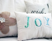 JOY Fabric Word Pillow