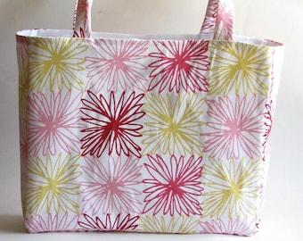 Floral Tote Bag - Chrysanthemum Purse - Modern Floral Fashion