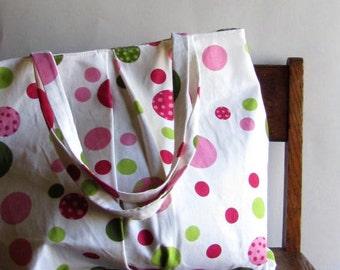 Large Polka Dot Purse - Shoulder Bag - Large Purse