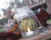 Mason Jar Lantern Unique Pattern Great for Outdoor Rustic Wedding