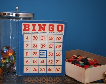 Vintage Collection of Bingo Game Supplies