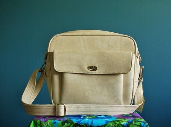 Vintage White Samsonite Travel Bag