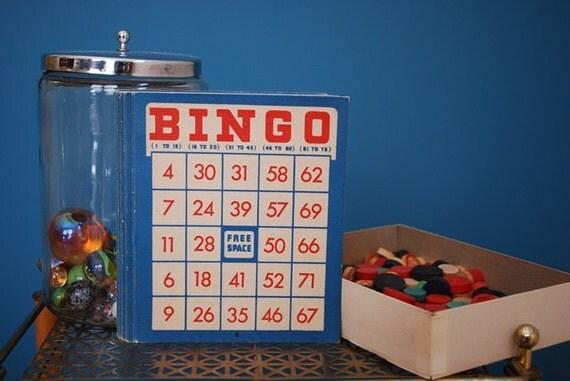 Vintage Collection of Bingo Game Supplies