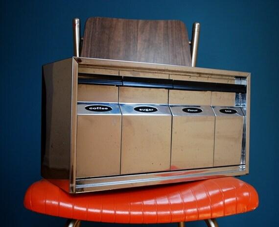 Vintage Chrome Canister Set