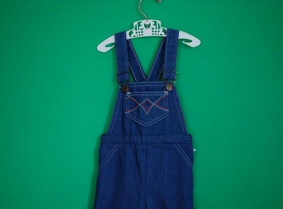 Reserved for Anne- Vintage Children's Denim Overalls- Size 4T
