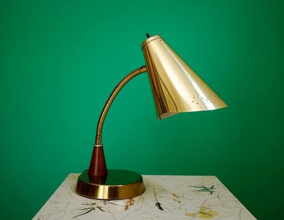 Vintage Metal Gooseneck Lamp