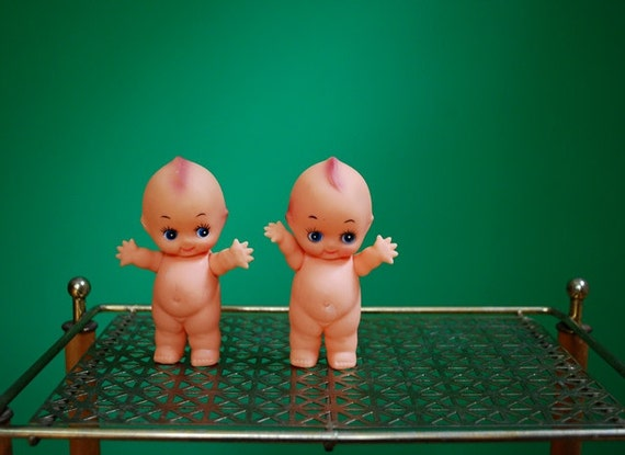 Vintage Pair of Plastic Kewpie Dolls- 2 Sets Available