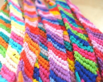 10 pack of brightly coloured friendship bracelets great party favors or gift ideas