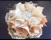 "NO SEW Fabric Flower Headband Tutorial PDF ""Pouting Princess"" Make Fabric Flowers"