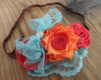 "Fabric Flower Headband Tutorial NO SEW Pattern ""Ila"" DIY Flower"