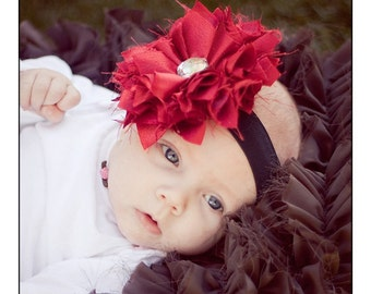 "NO SEW Fabric Flower PDF Tutorial ""Pouting Princess"" Fabric Flower Headband Pattern"