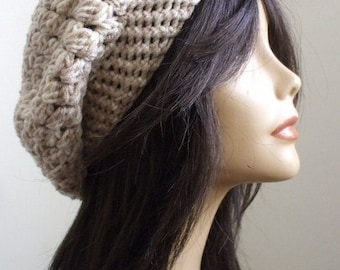 CUTE Oversized Tam // Retro HIPPIE Slouchy Hat // Unisex Hat // Slouchy Hat // Men Slouch Hat// Gorgeous Fun To Wear Hat // Ready to Ship