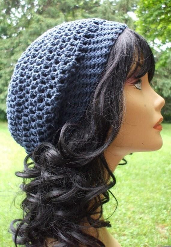 COTTON  My Slouchy Hat  DARK BLUE