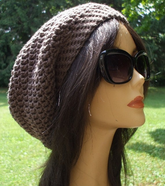 My Pretty Crochet Slouchy Hat Beret Tam Hat Unisex Men Women Cute Boho Slouchy Hat Women Crochet Tam Ready to Ship