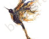 Blue Bird Art Print, Sound of the blue bird  from sleeping beauty, artwork, painting, drawing, wall art by BalletArt