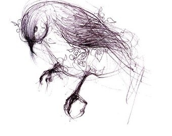 like a black bird, bird art print, black ink drawing, illustration, wall art, trending art, wall decor new for home, black and white art