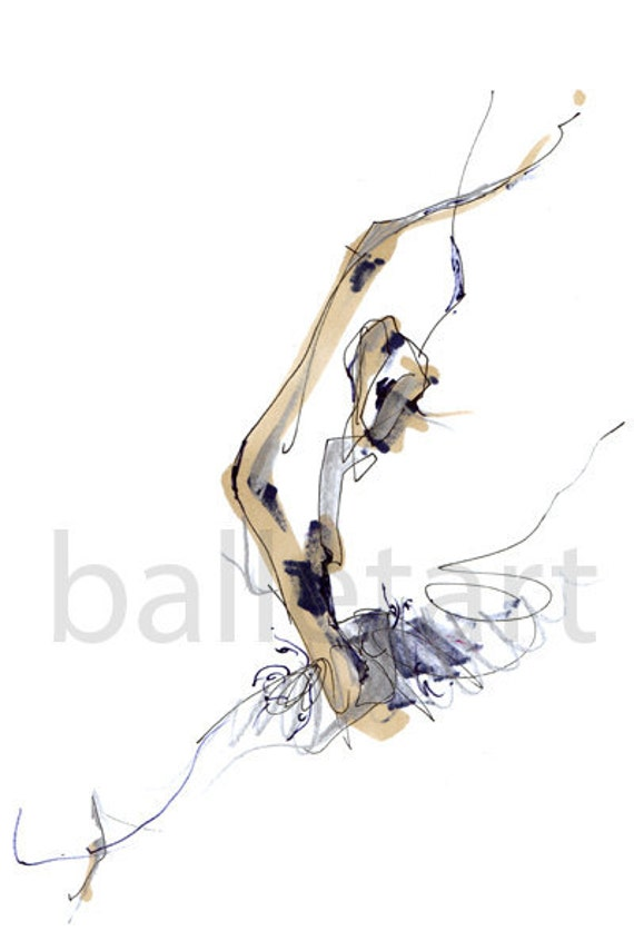 Ballet Art Prints, One-of-a-kind art gift, Sculpting Ballet, Dancer From London Royal, abstract art, figure drawing, illustration, art gift