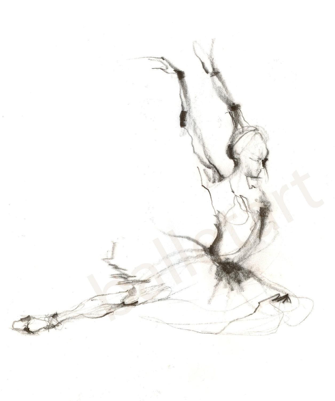 wall art ballet art prints illustrations black and white