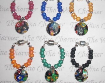 LISA'S FAVORITE Magnetic Wine Charms Set of 6