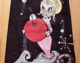 Custom Painted Cindy Lou Who Jeans for Kids