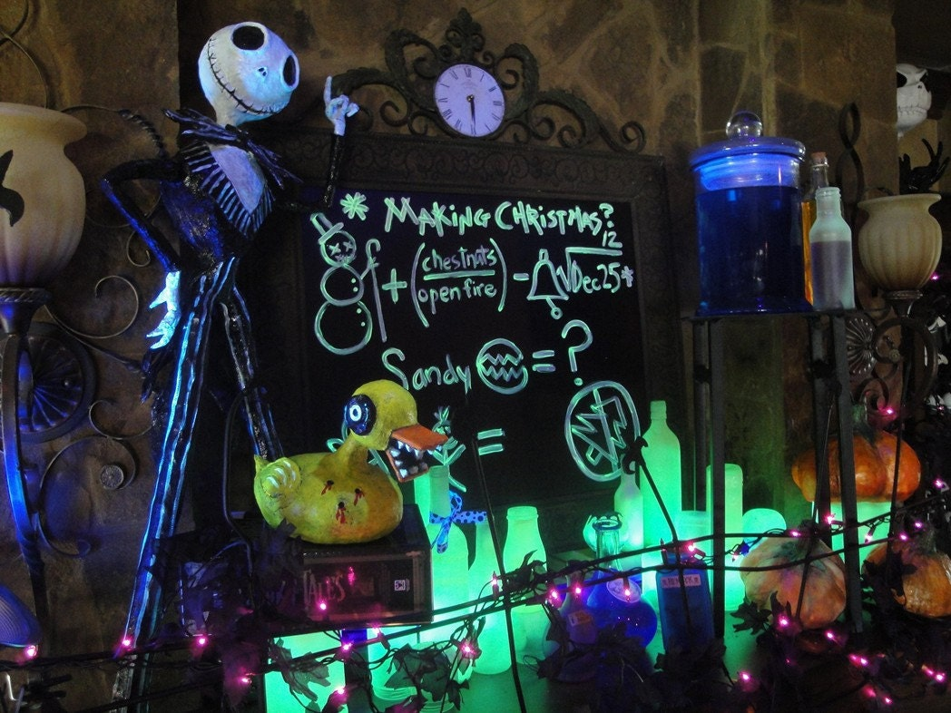Custom halloween the nightmare before christmas hand sculpted - Jack skellington decorations halloween ...