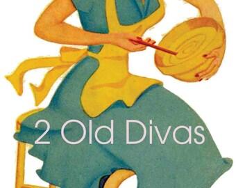 1950s Style Retro Kitchen Divas Decal Set