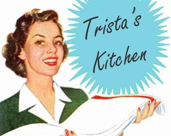 1950s Retro Mid Century Kitchen Decals