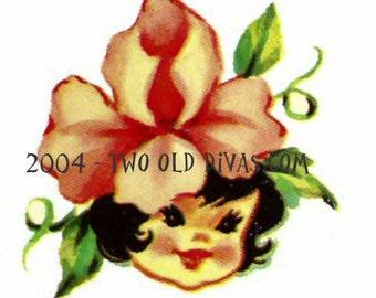 Sweet 1950s Flower Girls 20 Decals