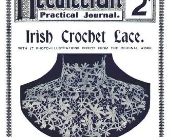 Needlecraft Practical Journal No 80 Irish Crochet Series 4 1900s Digital Download