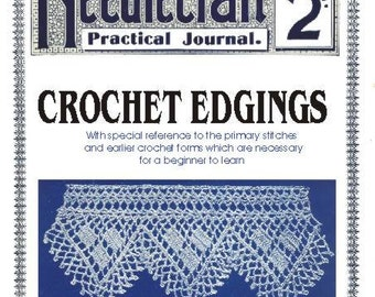 Needlecraft Practical Journal No 10 First 1900s Beginners Crochet Lessons Instant Digital Download