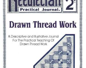 Antique Drawn Thread Work Needlecraft Practical Journal No 38 Series 3 INSTANT DIGITAL DOWNLOAD