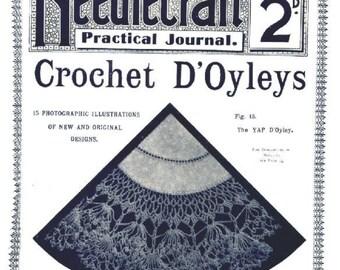 Vintage 1900s Crochet Doyley Doily Patterns Needlecraft Practical Journal No 50 Instant Digital Download