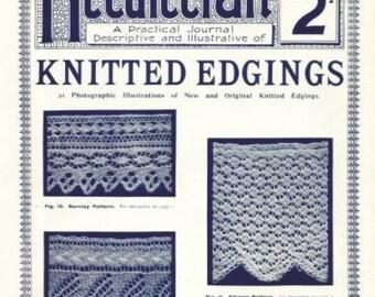 Antique Vintage Knitted Edgings Needlecraft Practical Journal No 60 Series 3 Digital Download