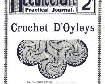 Antique Crochet Doyley Doily Lessons Needlecraft Practical Journal No 82 Doily Series 6 Digital Download