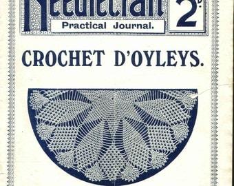 Antique Vintage Doyley Doily Patterns Lessons Needlecraft Practical Journal No 127 Digital Download