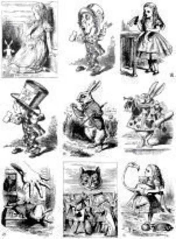 Alice In Wonderland Decal Set Original Artwork Reproduction