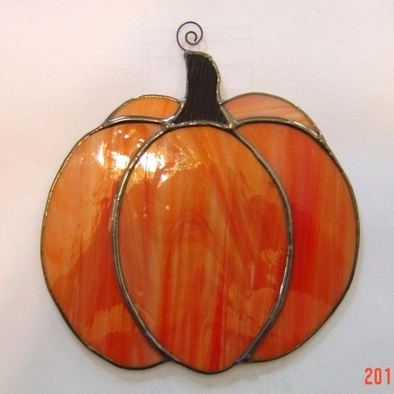 Large Original Stained Glass Pumpkin Suncatcher