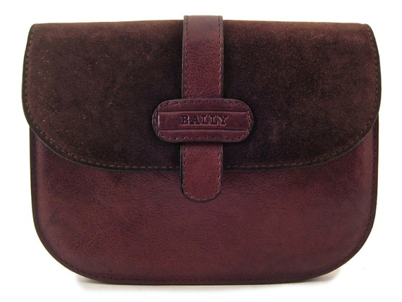 Authentic BALLY Saddle Shoulder Bag Brown Genuine Leather Cross Body Clutch