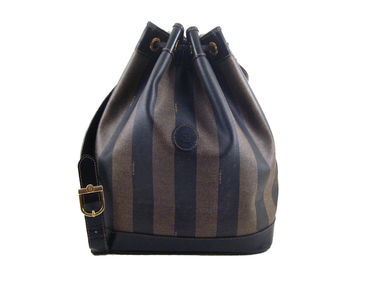 Vintage Fendi Bucket Bag Large With Mini Wallet By Cotive