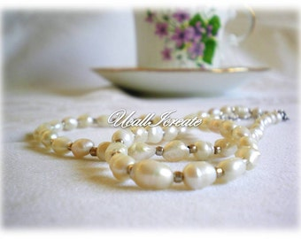 Pearl Necklace  /Handmade by Me/Gifts For Her