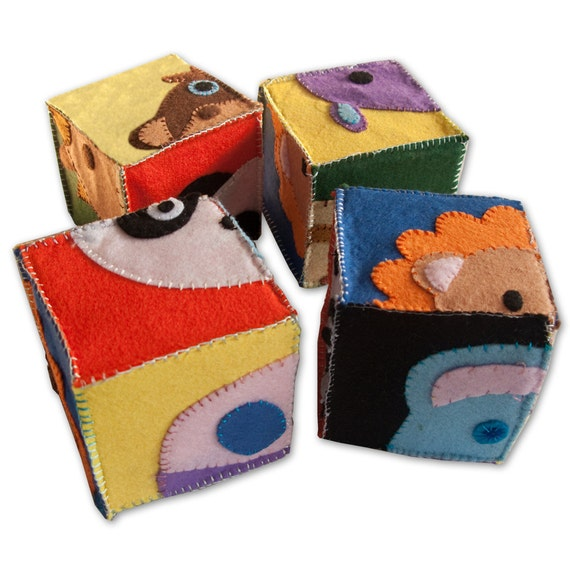 Kids Baby soft toy cube puzzle set of 4